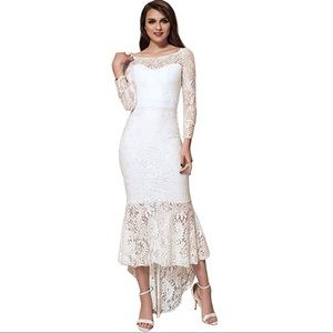 Dresses & Skirts - Solid Formal Lace Maxi Dress